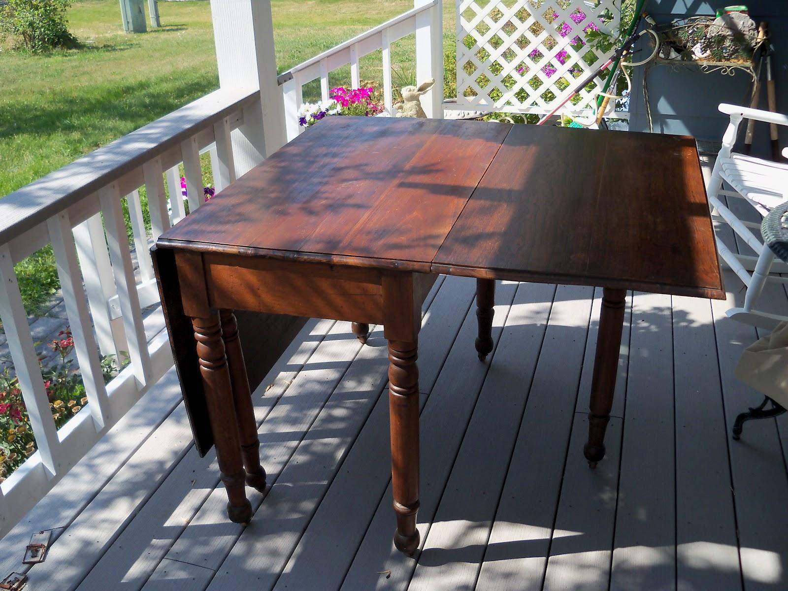 The Pastel Prairie Antique Gateleg Drop Leaf Table