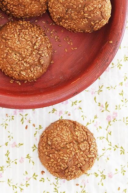 Sesame Cookies With Tahini - shewandersshefinds.com