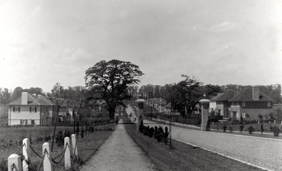 Photograph of Mymms Drive, Brookmans Park taken 19202/30s Image from the NMLHS