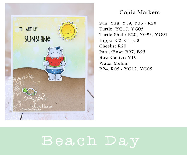 Heather's Hobbie Haven - Beach Day - You Are My Sunshine