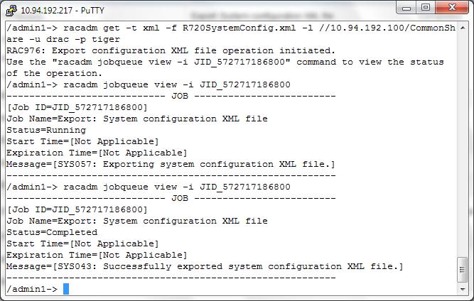 Hybrid Cloud Engineering Blog: XML Export/Import Dell iDRAC