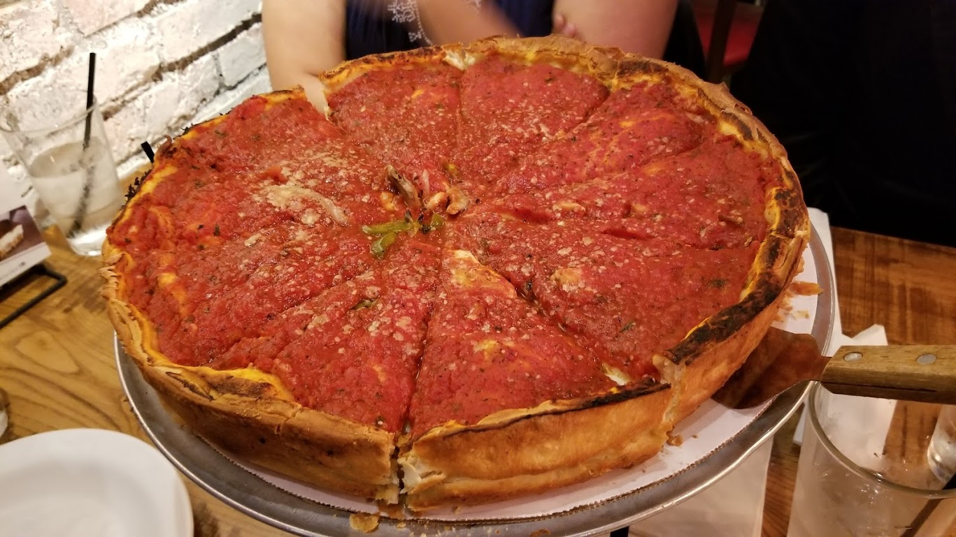 Giordano's deep-dish pizza, Chicago, Detroit location