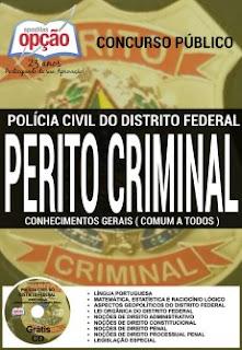 Apostila concurso PCDF / Polícia Civil do DF (Grátis CD) Perito Criminal.