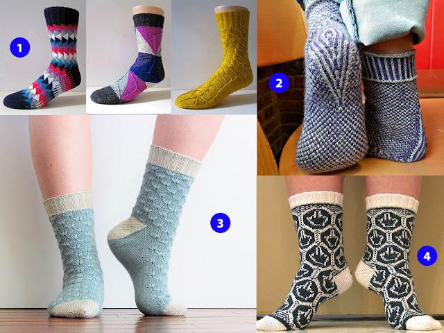 sélection de chaussettes en tricot