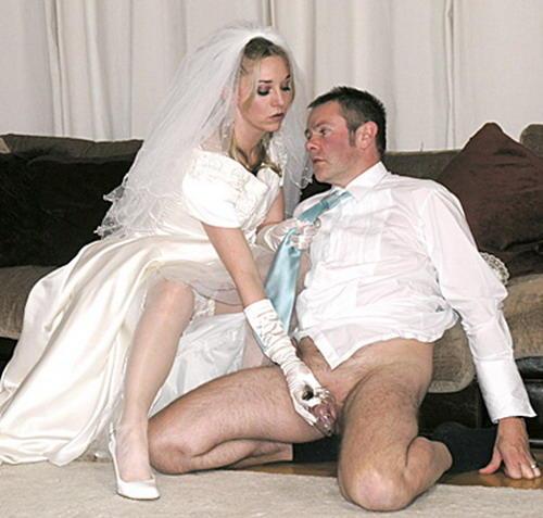 Wedding day blow jobs have