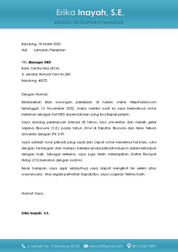 Kop Surat Lamaran Kerja 5