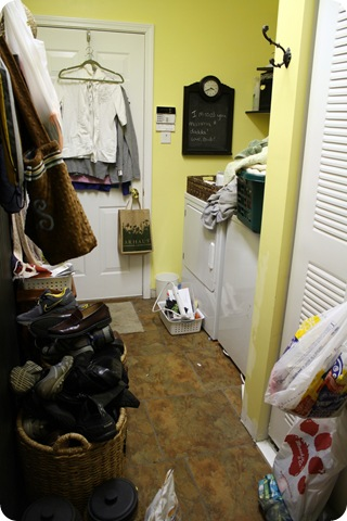 The bright and light mudroom makeover is complete!