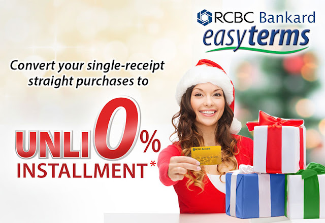 RCBC Bankard: Unli 0% Installment easyterms