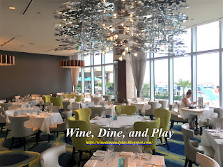 The Sea-Guini restaurant is inside the OpalSands Resort on Clearwater Beach, Florida with views of the Gulf Of Mexico