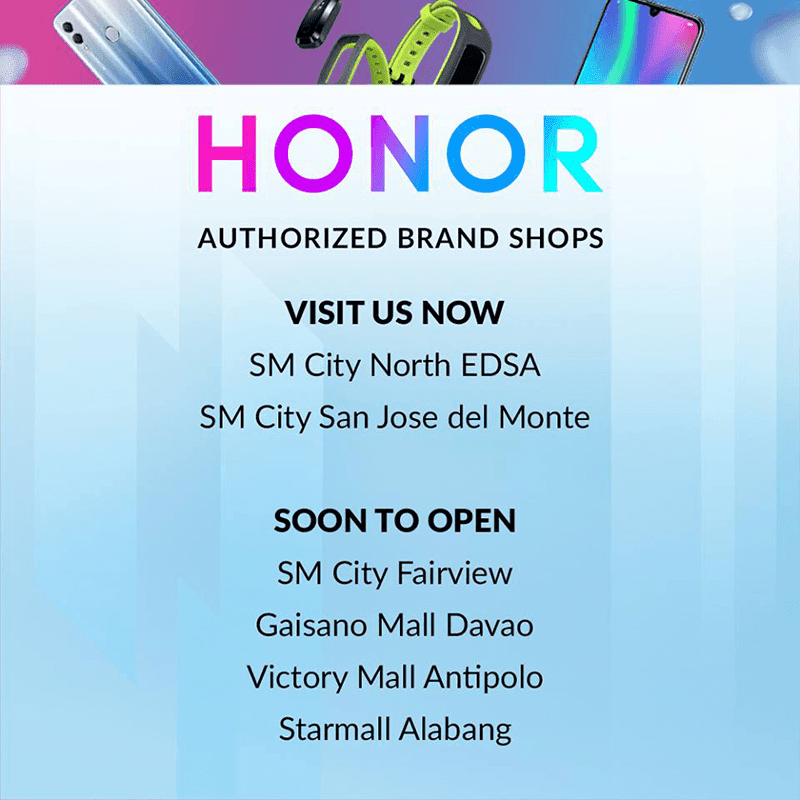 Honor to open 16 more official physical stores in the Philippines