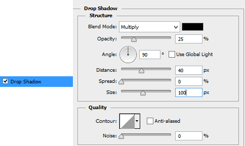 Drop-shadow-settings-for-folding-paper-effect