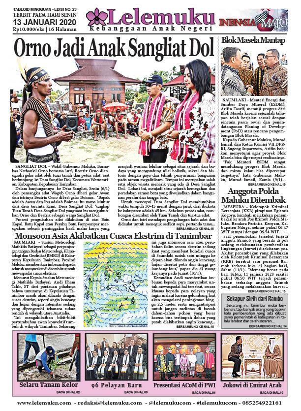 Tabloid Lelemuku #23 - Orno Jadi Anak Sangliat Dol - 13 Januari 2020
