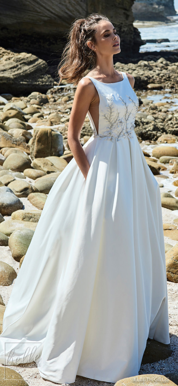 K'Mich Weddings - wedding planning - wedding dresses - bellethemagazine - 2018/06- elbeth-gillis - 2019 - wedding-dresses-luminescence-bridal-collection