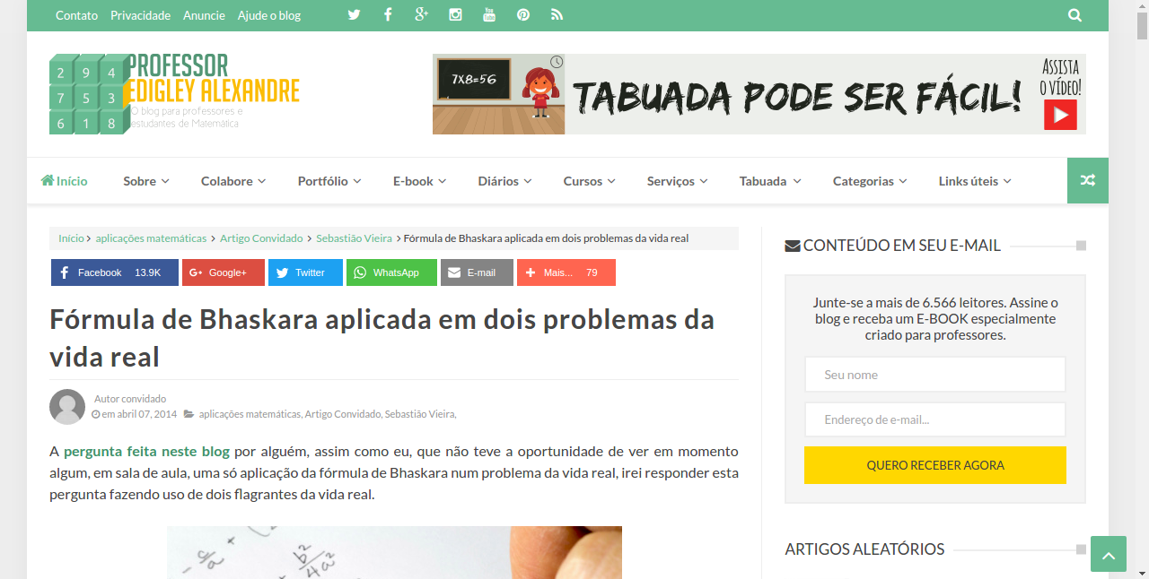 Artigo mais lido do blog