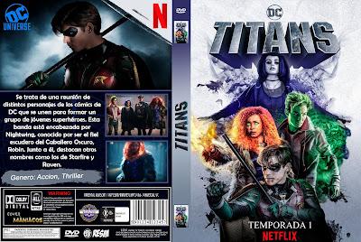 CARATULA TITANS - TITANES - TEMPORADA 1 - 2018 [COVER DVD]