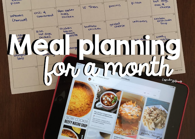 Meal planning at a month takes away the stress each week, and brings fun back to dinner time!
