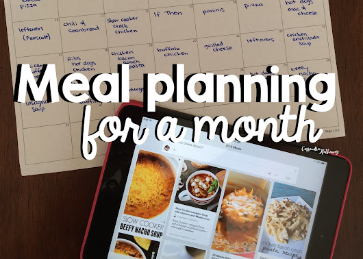 Planning easy low prep dinners for a MONTH!