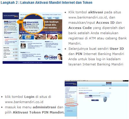 Bank Mandiri Internet Banking (Cara Daftar dan Login)
