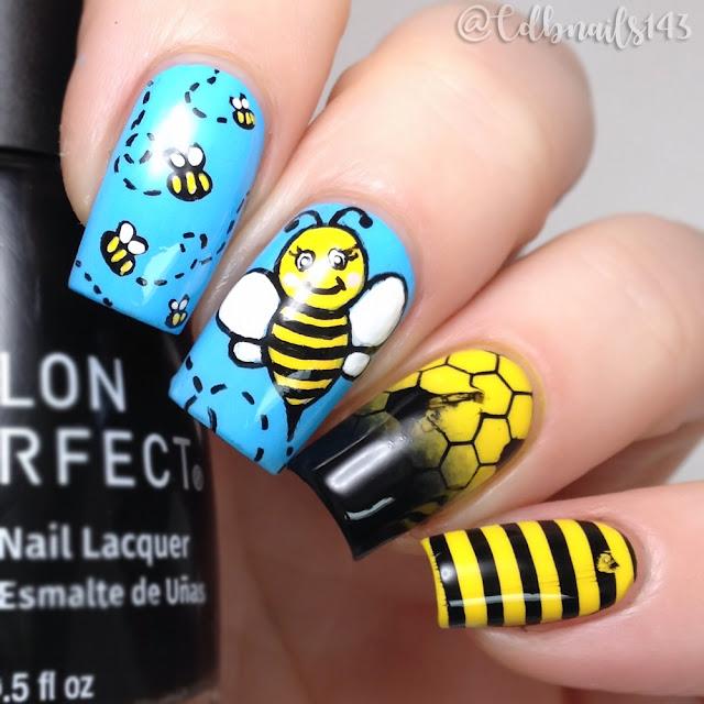 cdbnails143-Cute Bees