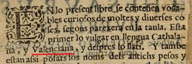 Onofre Pou: Thesaurus Puerilis, ed. 1591, valenciana, catalana, latina
