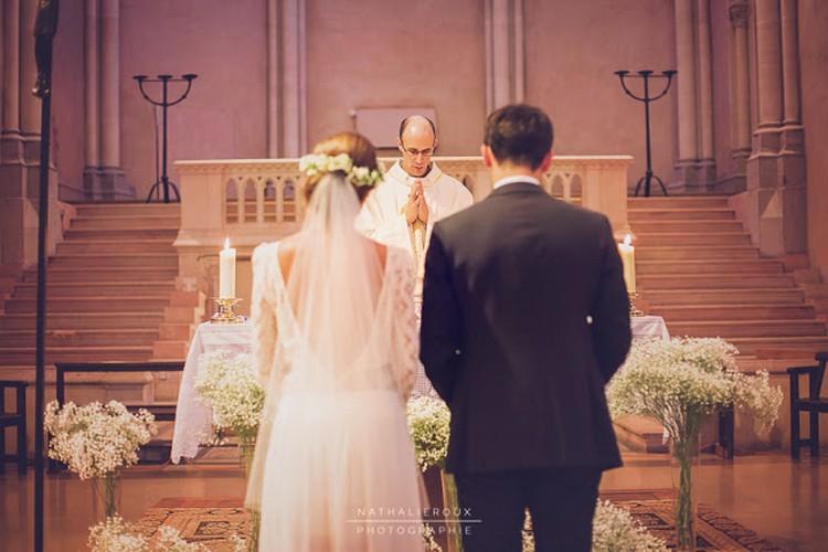 Lyon wedding florist, french wedding style, gypsophile, Cérémonie