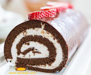 سويسرول الشوكولاتة للشيف حسن