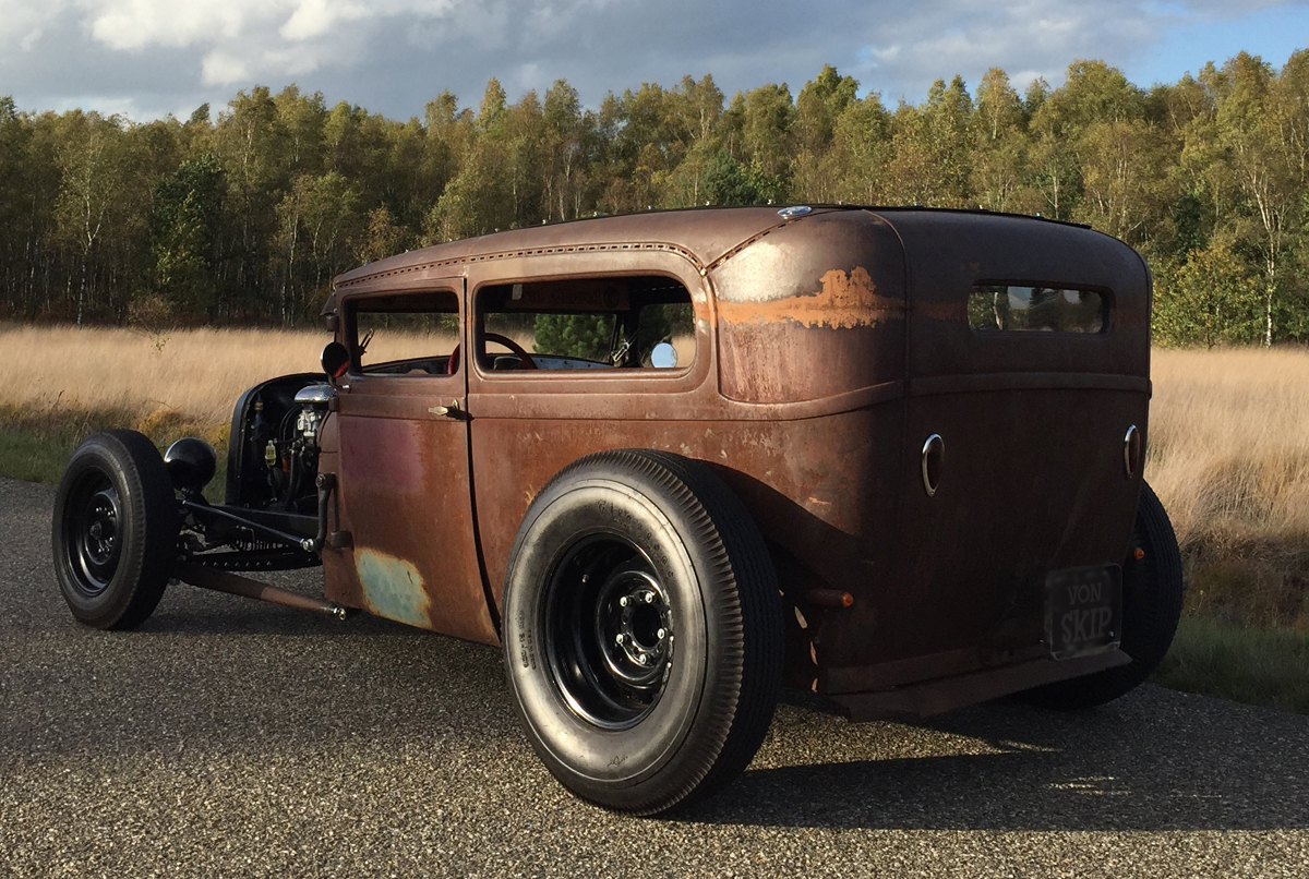 Rodcitygarage 1929 Ford Model A 1949 Styleline Chevy Horn Wiring Here My Latest Built Tudor Sedan Chopped Channeled Dropped Dont Let The Look Fool You No Rat Rod New Custom Zd Frame