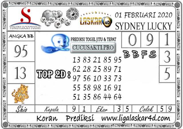 Prediksi Sydney Lucky Today LASKAR4D 01 FEBRUARI 2020