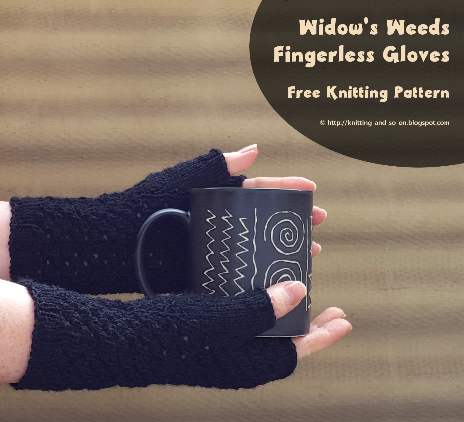 Knitting and so on widows weeds fingerless gloves widows weeds fingerless gloves jeuxipadfo Choice Image
