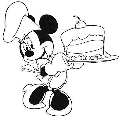 colorir Disney Happy Birthday em preto e branco