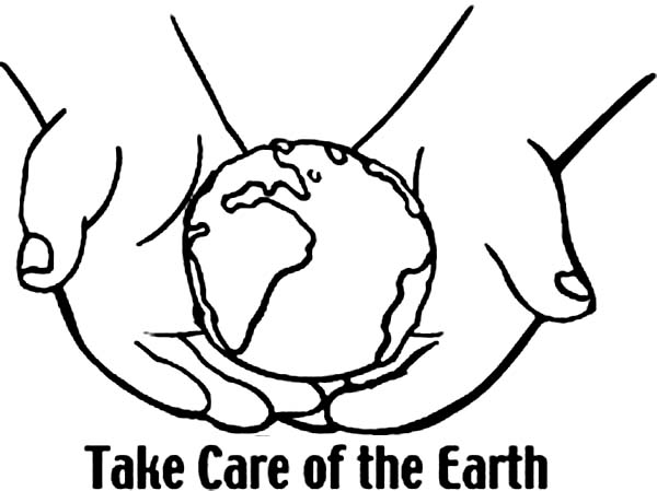 Happy Earth Day Colouring Images