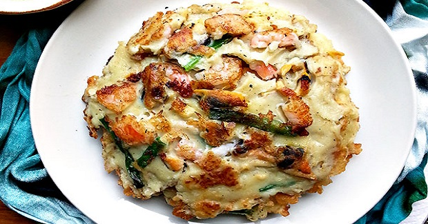 Seafood Scallion Pancake Recipe