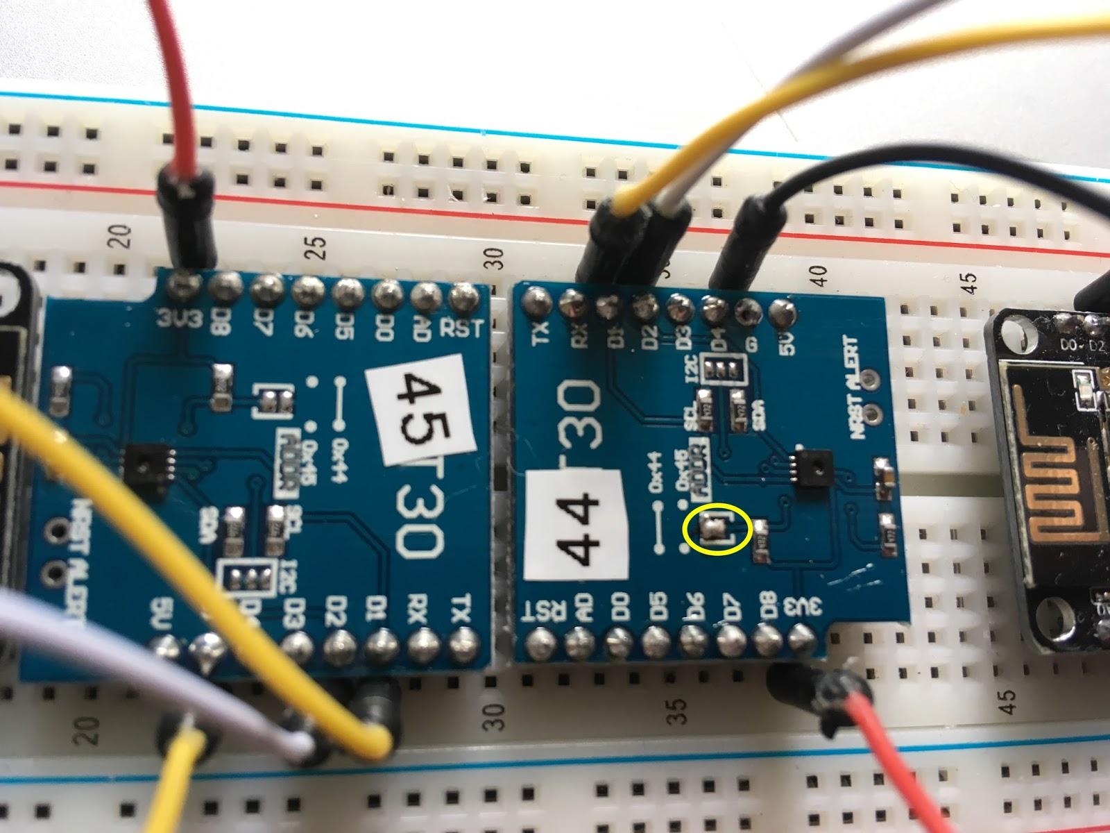 Multiple SHT30 sensors on a single I2C bus with Sonoff-Tasmota