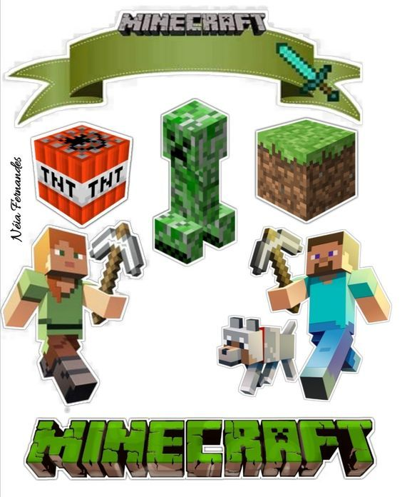 Minecraft Party Free Printable Cake Toppers Oh My