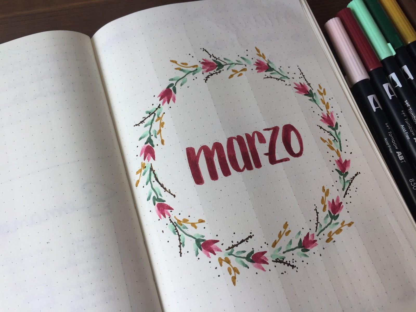 MI BULLET JOURNAL EDICIÓN MARZO