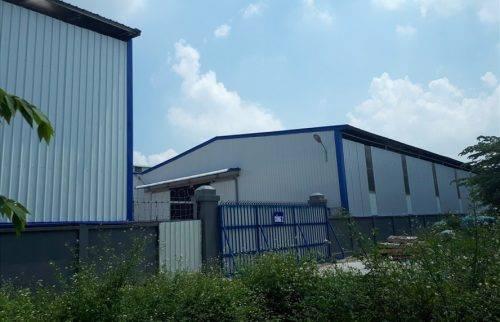 Khu vực sản xuất của nhà máy nhựa