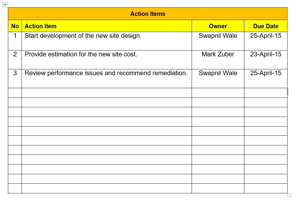 action item tracking excel template download free