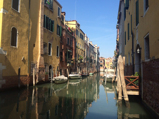 One of many canals in Venice, Italy