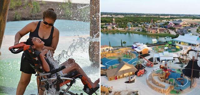 O primeiro parque aquático do mundo para pessoas com deficiência