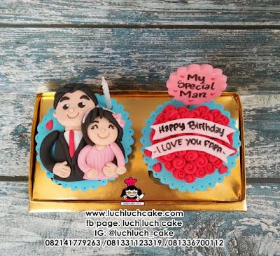 Cupcake Fondant 2d Ulang Tahun Papa