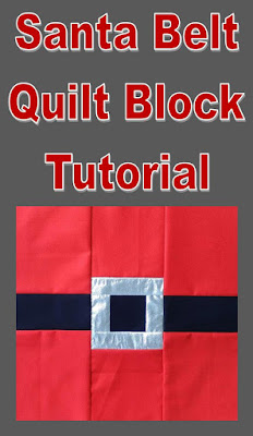 This Santa quilt block sews up quickly and would make great Christmas pillows!