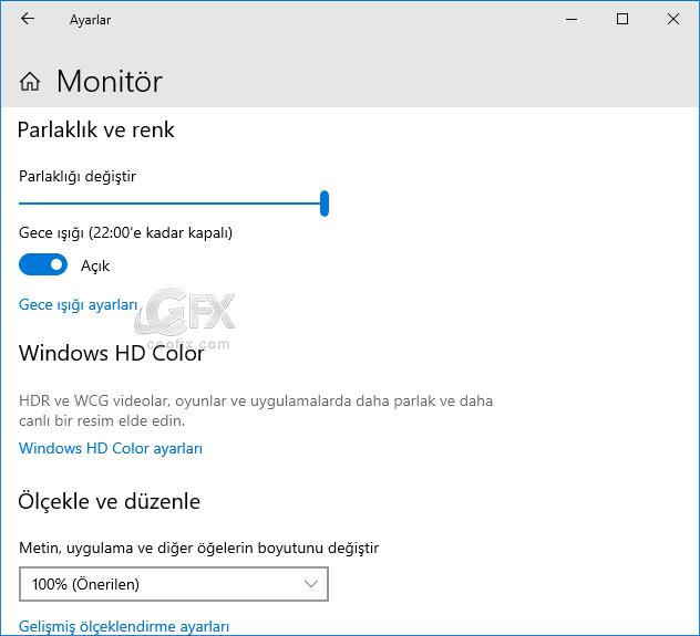 Windows 10'da Gece ışığını etkinleştirme -www.ceofix.com
