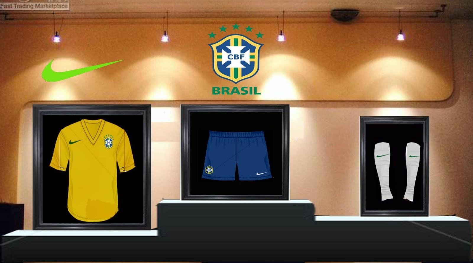 b396c3eca4c ultigamerz  BRAZIL 2016 HOME KIT PES 2013