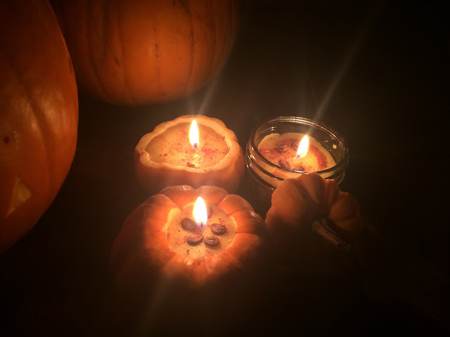 pumpkin spice candles tutorial