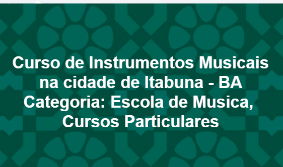 #Curso de Instrumentos, #Musicais na cidade de Itabuna - BA Categoria: Escola de Musica, Cursos Particulares#