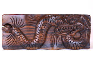Hand-carved Dragon Puzzle Box