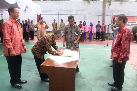 Sertijab Kalapas Subang, Rahmat Mulyana Resmi Gantikan Budi Sarwono