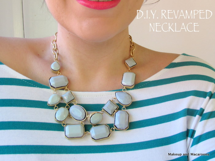 Diy Revamp An Old Necklace With Nail Polish Makeup And Macaroons