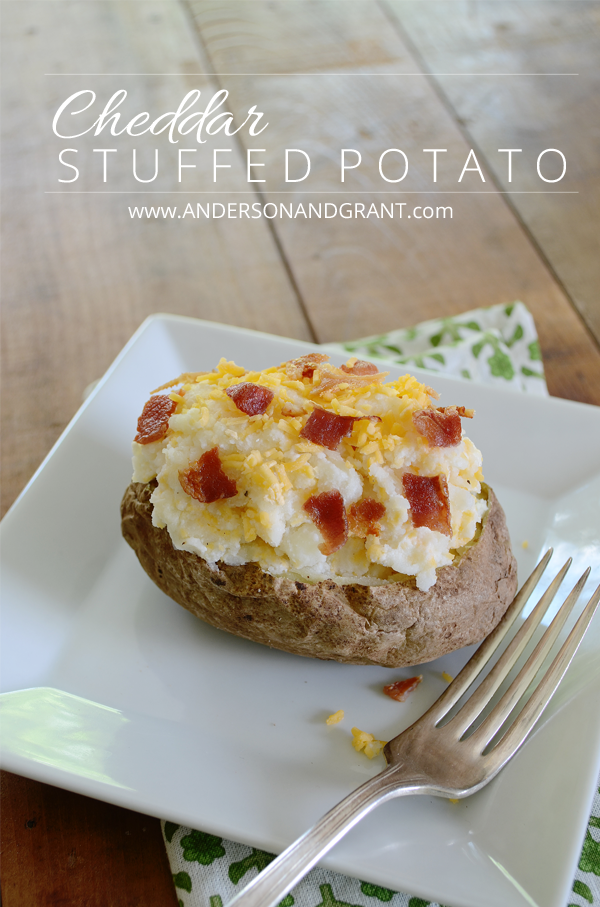 Delicious recipe for Cheddar Stuffed Potatoes....the perfect addition to any meal! | www.andersonandgrant.com