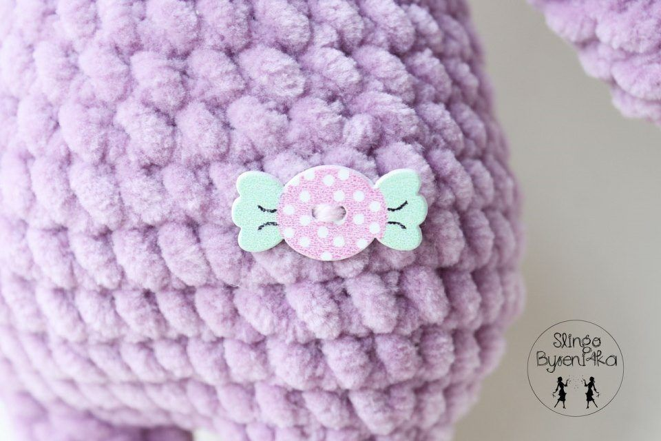 Plush bear crochet toy